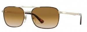 Okulary PERSOL Gold Havana / Clear Gradient Brown PO2454S-107551