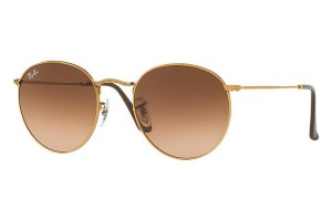 Okulary RAY BAN 3447 ROUND METAL Shiny Light Bronze / Pink Gradient Brown ORB3447-9001A5