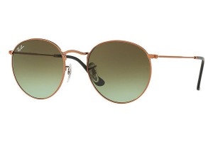Okulary RAY BAN 3447 ROUND METAL Shiny Medium Bronze / Green Gradient Brown ORB3447-9002A6