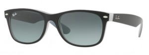 Okulary RAY BAN 2132 NEW WAYFARER Matte Black on Opal Ice / Grey Gradient Dark Grey ORB2132-630971
