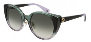 Okulary Gucci Green / Green Gradient GG0369S-006