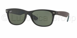 Okulary RAY BAN 2132 NEW WAYFARER Matte Black / Green ORB2132-6182