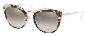Okulary PRADA Spotted Opal Brown Pale Gold / Gradient Grey Mirror Silver PR20US-UAO5O0