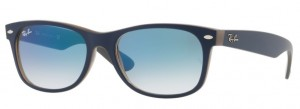 Okulary RAY BAN 2132 NEW WAYFARER Matte Blue on Opal Brown / Clear Gradient Blue ORB2132-63083F