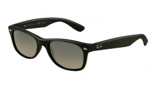 Okulary RAY BAN 2132 NEW WAYFARER Matte Black / Blue Gradient Grey Polarized ORB2132-601S/78