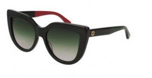 Okulary Gucci Black / Green Gradient GG0164S-003