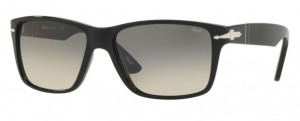 Okulary PERSOL Black / Clear Gradient Grey PO3195S-104132